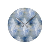 Blue Sea Painting Sea Shell Wall Clock