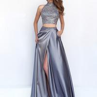 Beaded Crop Bodice Sherri Hill Formal Prom Gown 11330