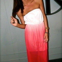 Ankle Maxi in Coral-Red | The Rage