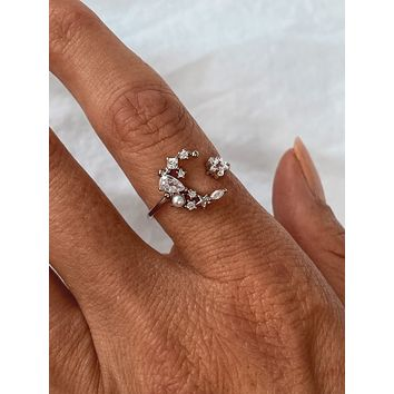 My Moon And My Stars Ring (Silver)