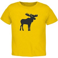 Moose Faux Stitched Toddler T Shirt