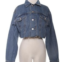 RiRi Cropped Denim Jacket