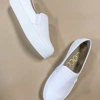 White Snake Slip On Sneakers