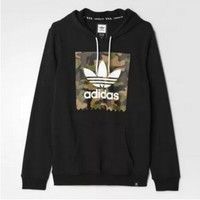 Adidas Fashion Casual Men Long Sleeve  Pullover Hoodie Sweater