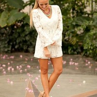 Jump For Joy Lace Romper Ivory