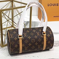 LV Louis Vuitton New fashion monogram print leather pillow shape round shoulder bag crossbody bag handbag