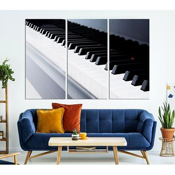 Framed Piano Artwork Large Canvas Wall Art Print
