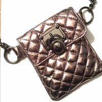 Michael Kors Pewter Silver Fanny Pack Small Purse