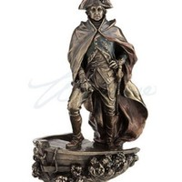 George Washington US President on Ship Front Crossing the Delaware Statue 9H
