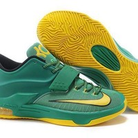 PEAPON3A VAWA Nike Men's Durant Zoom KD 7 Basketball Shoes Orange Green