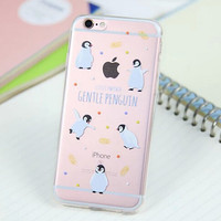 Cute Penguin Cover Case for iPhone 5s 5se 6 6s Plus Gift 318