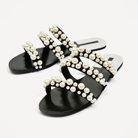 PEARLY STRAPPY SANDALS DETAILS