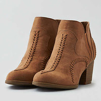 AEO Stitched Heel Bootie, Brown