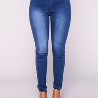 Catch of the Day Skinny Jeans - Light Blue Wash