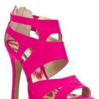 FAUX SUEDE PLATFORM CUT OUT BACK ZIPPER HIGH HEEL SANDAL-Heels-prom heels,high heels shoes,leopard heels,hot pink heels,cheap heels,party shoes heels,sexy heels,Platform Heels,high heel pumps,Wedge Heels,Flat Heels