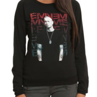 Eminem Repeated Logo Girls Pullover Top