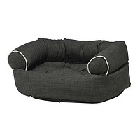MicroLinen Double Donut Bolstered Dog Bed — Storm