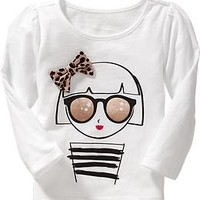 Long-Sleeve Applique Tees for Baby