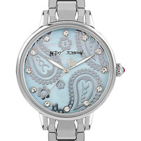 SLIM SOPHISTICATES PAISLEY SILVER WATCH SILVER