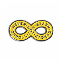 Never Not Stoked Lapel Pin - Yellow/Silver