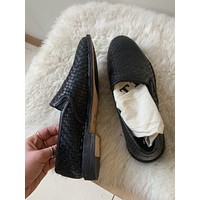 Trask Perforated Leather Slip On Shoe (8.5)