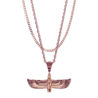 Mister  Riri Necklace - Rose Gold