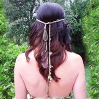 SoHo-Wrap a versatile bohemian accessory - hair wrap, headband, necklace, and wrap bracelet all in one