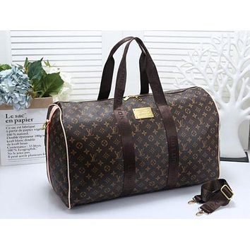 Louis Vuitton LV Women Leather Multicolor Luggage Travel Bags Tote Handbag