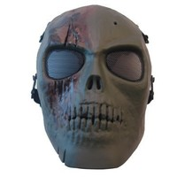 Army Of Two Skull Airsoft Mask Green Brown Rios