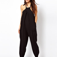 ASOS | ASOS Halter Cheesecloth Beach Jumpsuit at ASOS