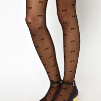 American Apparel Sheer Luxe Bows Tights