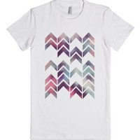 Chevron Dream 1-Female White T-Shirt