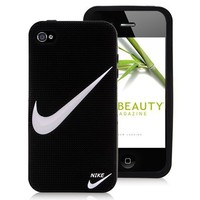 """Nike Logo Silicone Case Cover for iPhone 4 and iPhone 4S - """"Just Do It"""""""