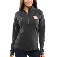 USA Nike Women's US Olympic Team Dri-FIT Training 1/4 Zip Pullover Top - Anthracite