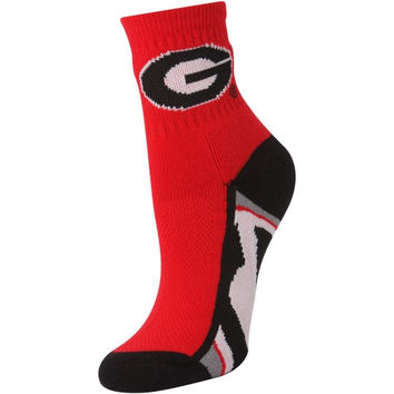 Georgia Bulldogs Women's Zoom Quarter-Length Socks