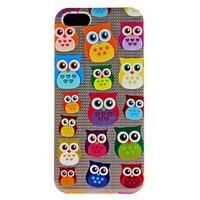 Phone Case - Cute Owl Pattern Hard Case for iPhone 5/5S