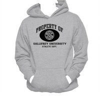 Property of Gallifrey University Athletic Dept Hanes Unisex Hooded Sweatshirt, Dr. Who Hoodie