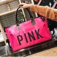 Victoria Pink New fashion sequin letter handbag shoulder bag women Rose Red