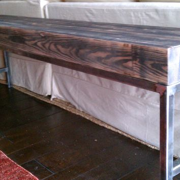 reclaimed lumber couch table