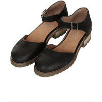 TOPSHOP KOFFEE Cleated Sole Mary-Janes