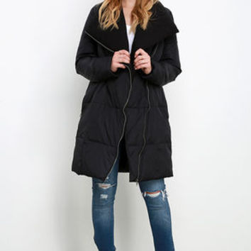 BB Dakota Evans Black Puffer Jacket