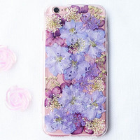 Purple Flower Iphone Cases 5 5S 6 6S Plus