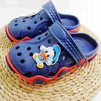 NEW Arrival Youth Boys/Girls Fashion Summer Sandals Beach Clog Croc Fit shoe charms/Flip Flops Slippers EVA Shoes