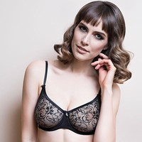 Sheer Lace Molded Cup Bra Lavinia Laura