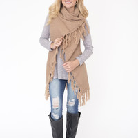 Taupe Wrap Sweater