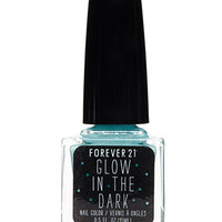 Light Blue Glow in the Dark Nail Polish
