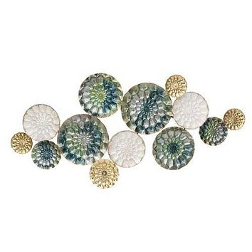 Chic Textured Metal Wall Decor