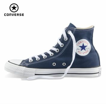 Converse all star shoes men women's sneakers canvas shoes all black high classic Skateboarding Shoes free shipping