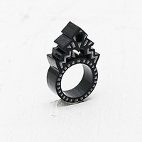 Finchittida Finch Temple Ring in Black - Urban Outfitters