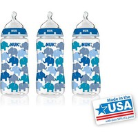NUK 10-oz Silicone Orthodontic Bottles, Medium Flow, Set of 3, Fashion Boy Design, BPA-Free - Walmart.com